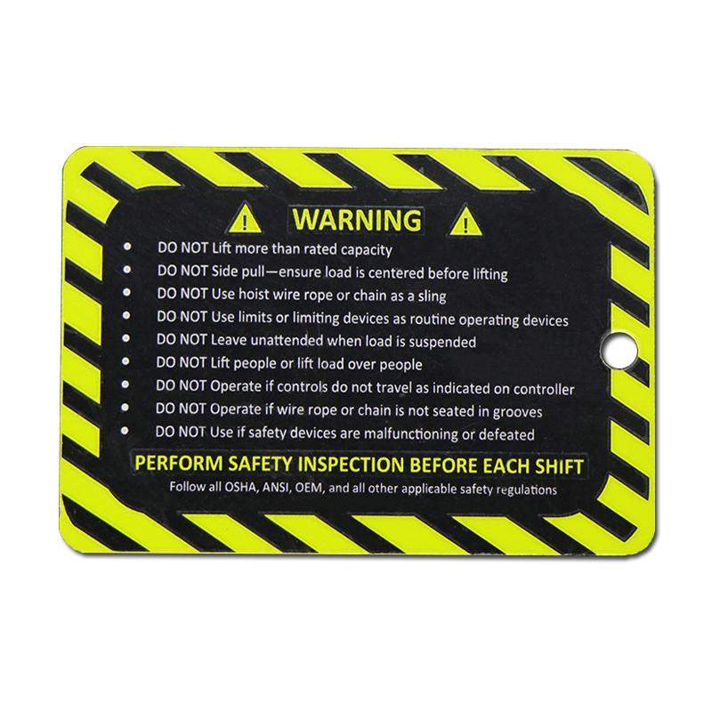 Custom Printing Equipment Aluminum Nameplate