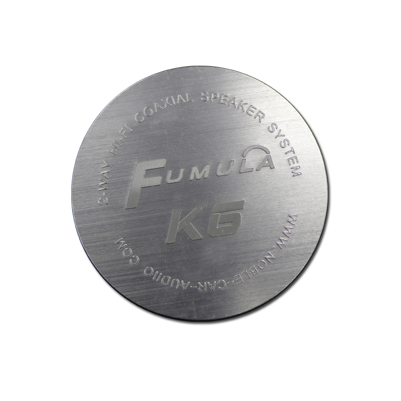 Round Brushing Logo Embossed Aluminum Nameplate