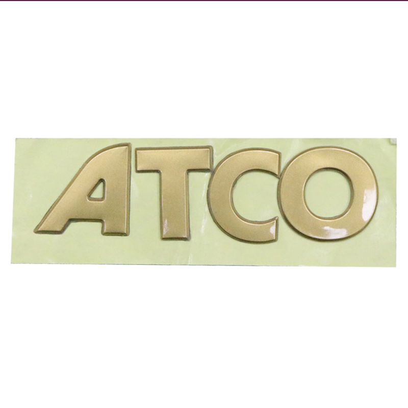 Custom Soft Plastic Nameplate