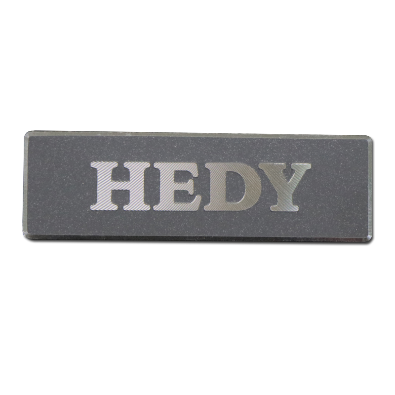 High Quality 3D Logo Embossed Metal Nameplate