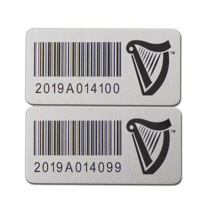 Metal Laser Barcode Sticker
