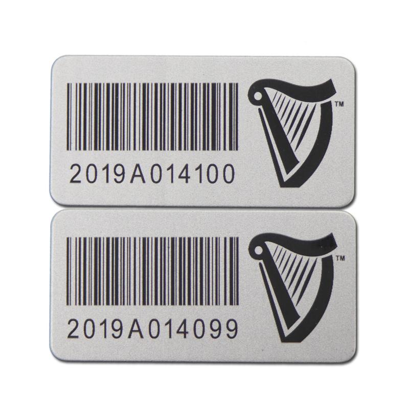 Metal Laser Barcode Sticker