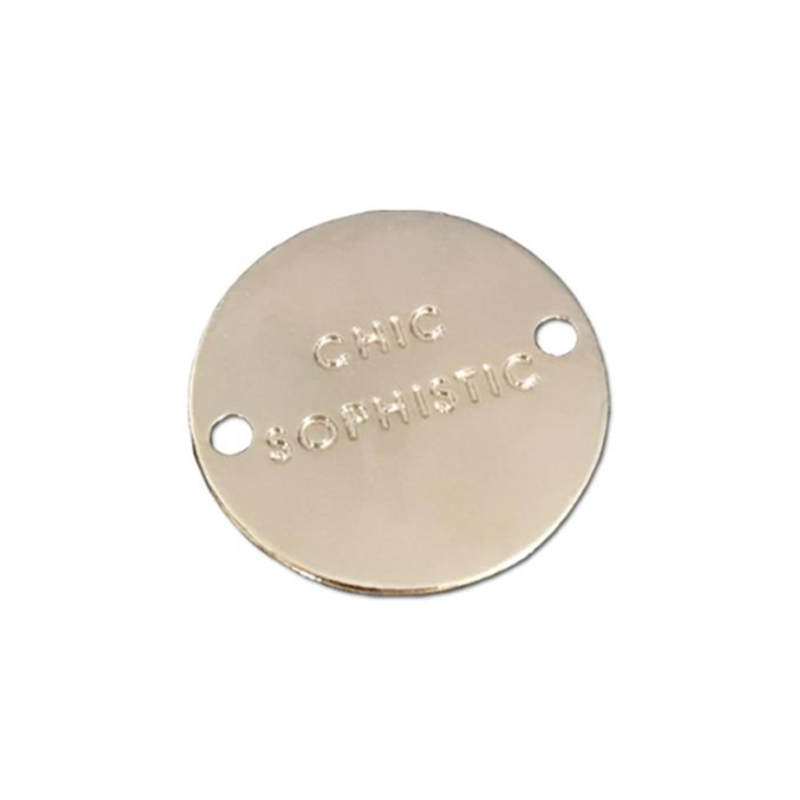 Custom zinc alloy logo nameplate
