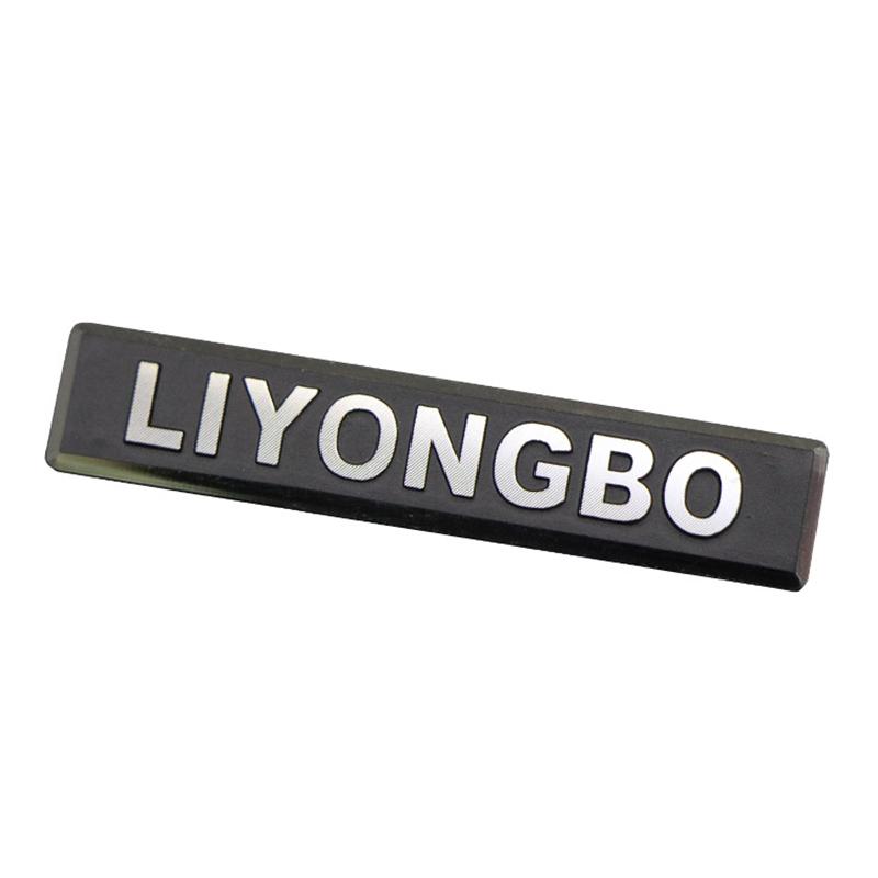 Embossed Aluminum Name Plate For Handbag/Bag