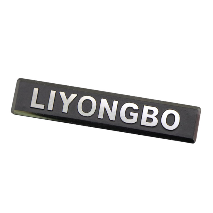 Embossed Aluminum Name Plate For Handbag/Bag