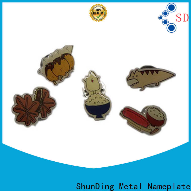 ShunDing high-quality metal pin badges for souvenir