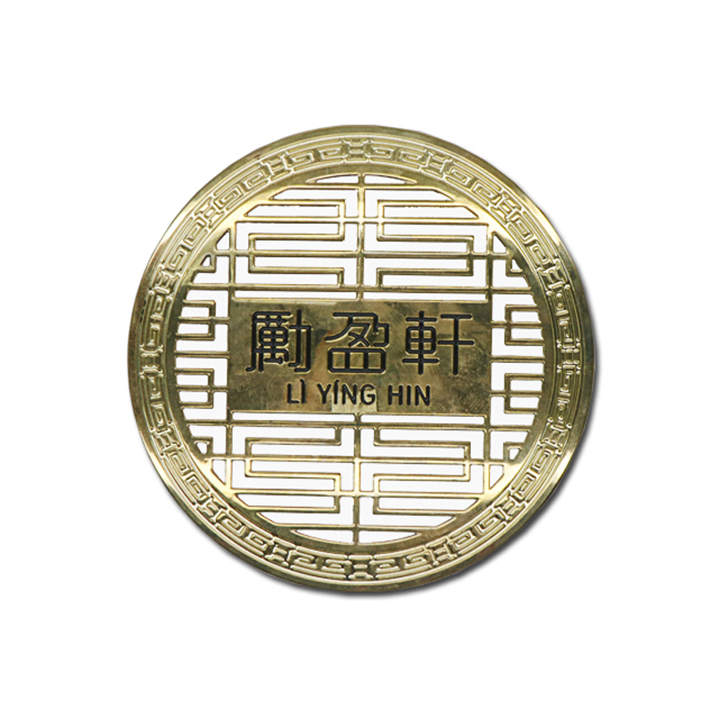 Chemcial etching hollow  brass name plates