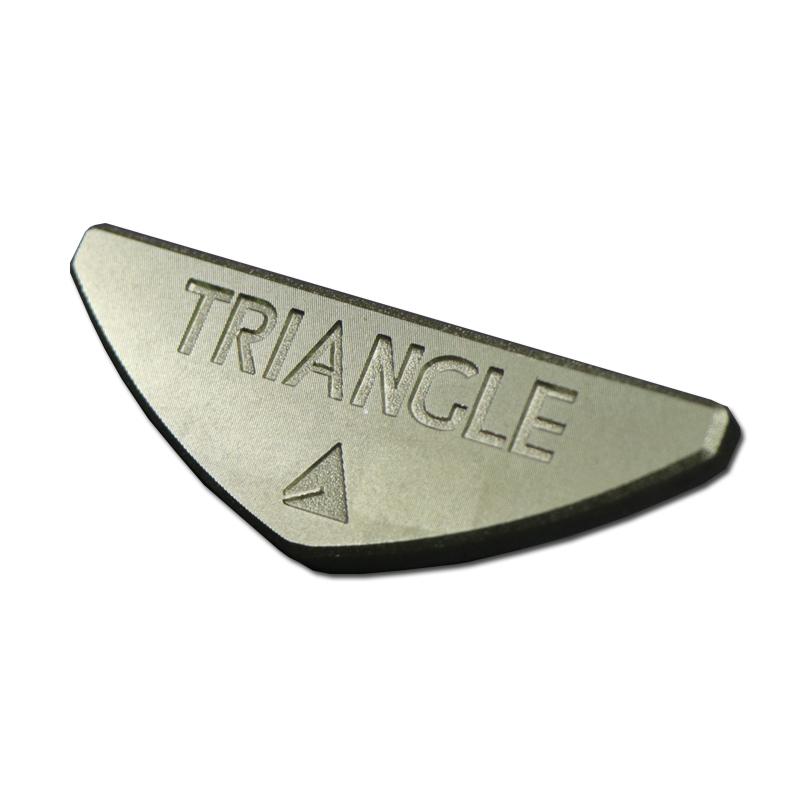 Bespoke metal logo plate