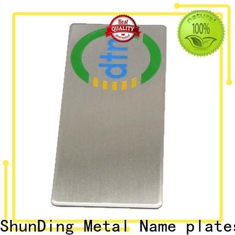 ShunDing metal plaque inquire now for souvenir