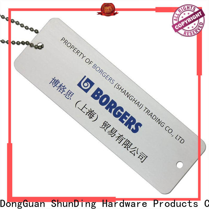 ShunDing first-rate metal luggage tags cost for staff
