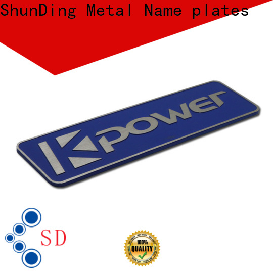 fashion metal engraved name plates certifications for company