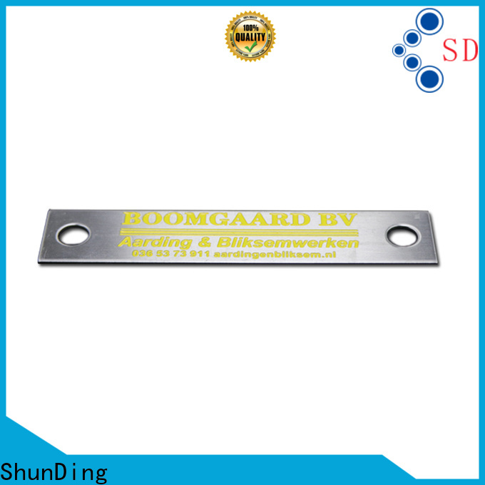 ShunDing durable steel name plates online China Factory for souvenir
