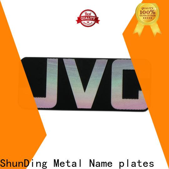 ShunDing effective custom name plates producer for meeting