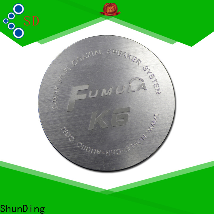 ShunDing metal name plates certifications for souvenir
