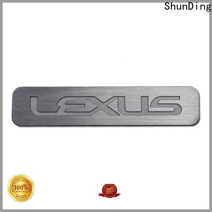 ShunDing steel name plates certifications for activist