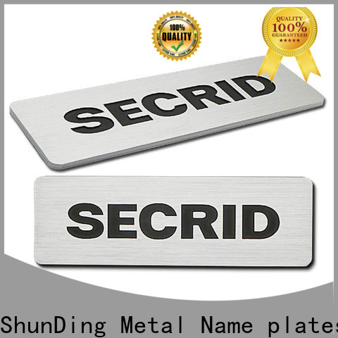 quality stainless steel name plates supplier for activist