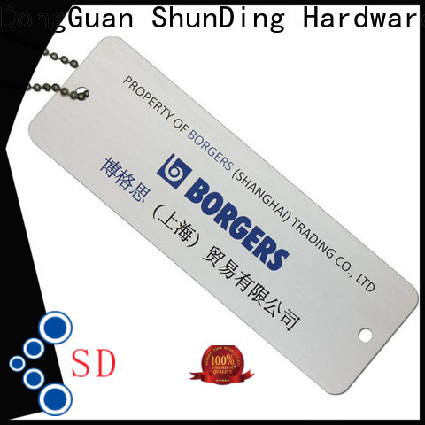 ShunDing high-quality engraved metal tags order now for identification