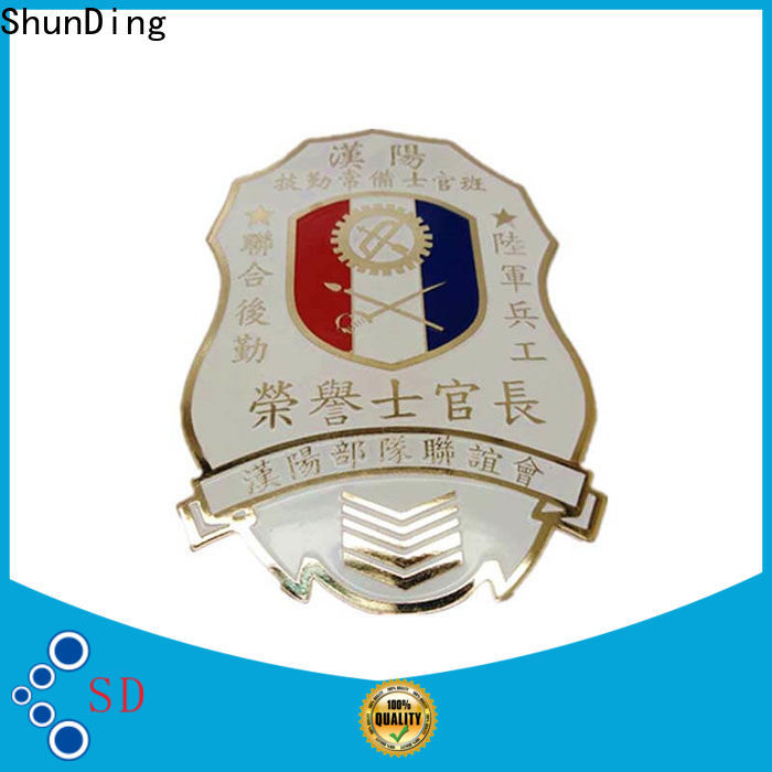 ShunDing stable metal pin badges for auction