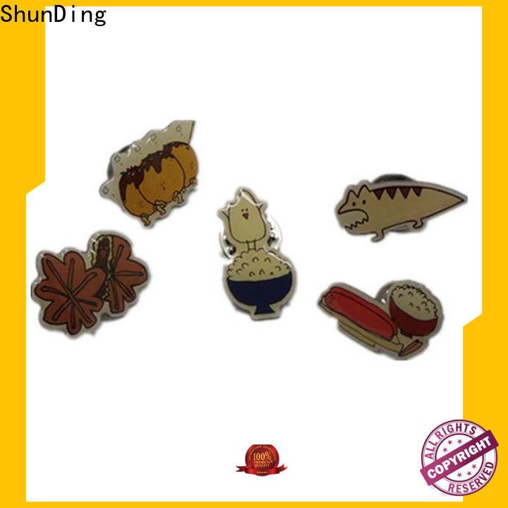 ShunDing stunning metal pin badges type for auction