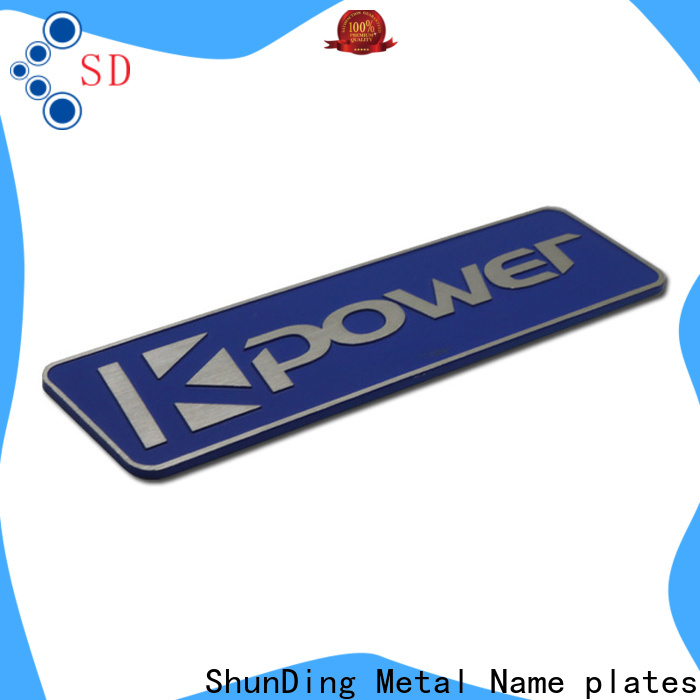 ShunDing metal labels supply for meeting
