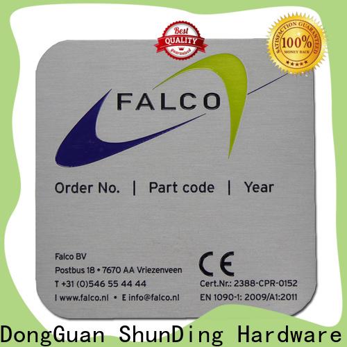 ShunDing effective custom metal nameplates certifications for commendation