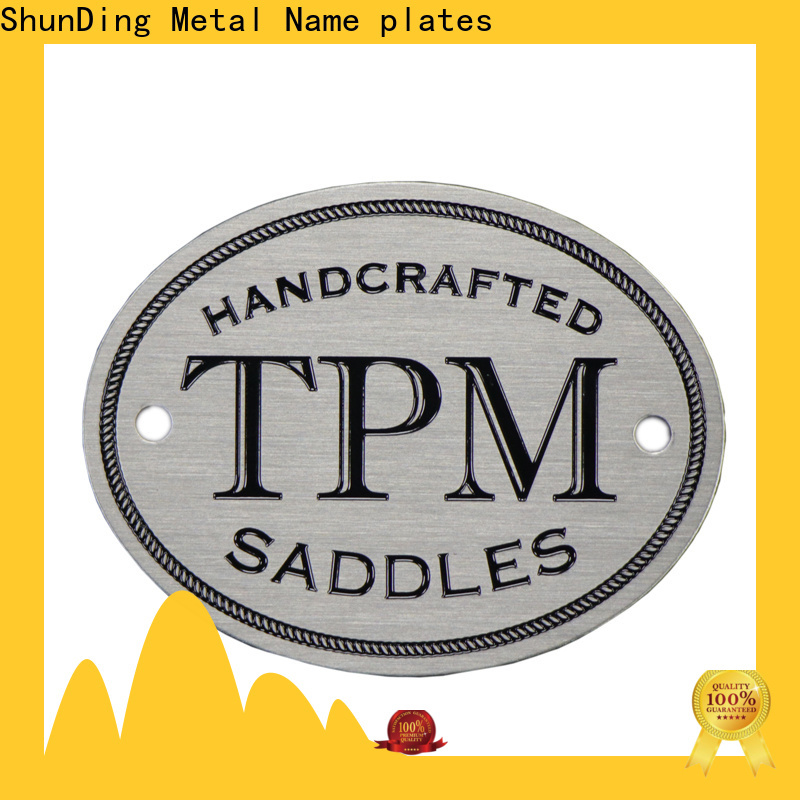 ShunDing hot-sale personalized name plates by Chinese manufaturer for activist