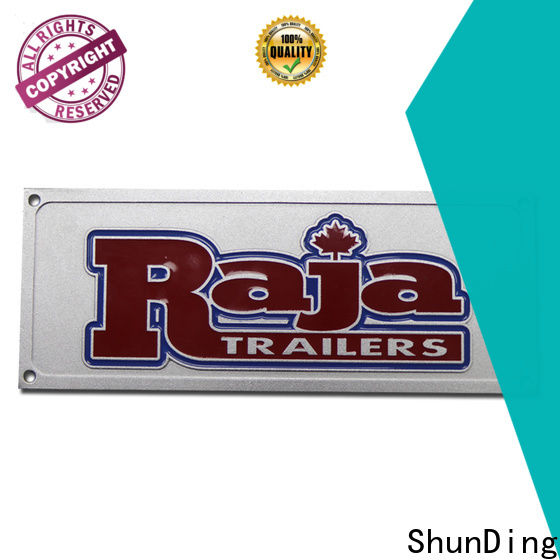 ShunDing custom name plates certifications for commendation