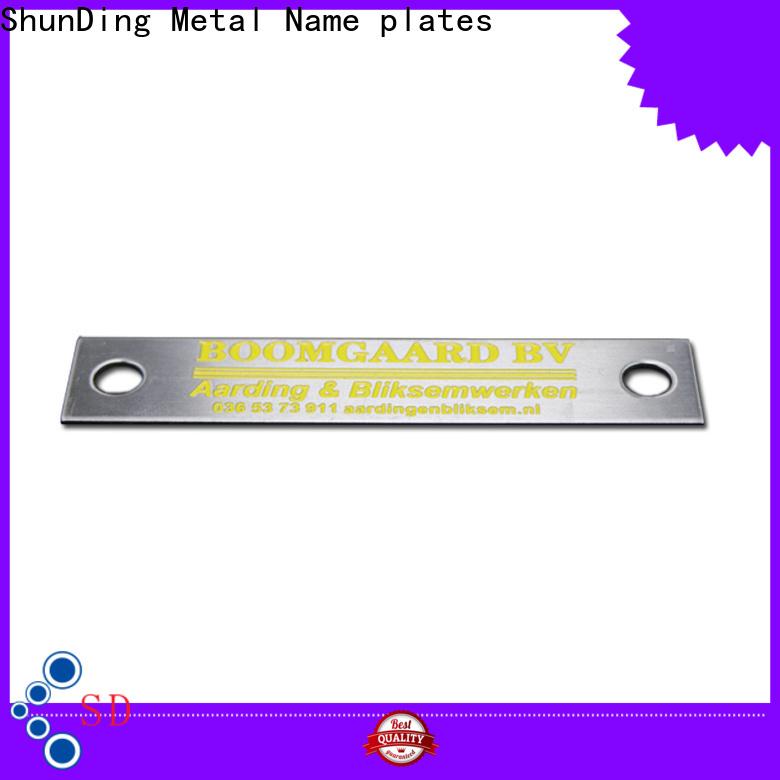 ShunDing custom metal labels by Chinese manufaturer for souvenir