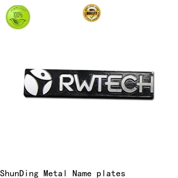 ShunDing inexpensive metal engraved name plates producer for souvenir