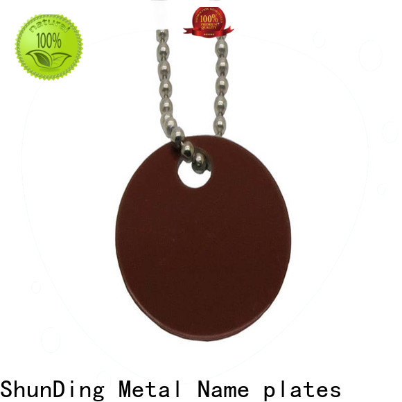 quality custom metal tags brown free design for commendation