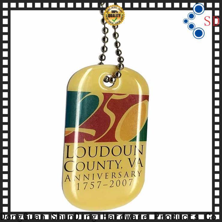 ShunDing brown custom metal tags bulk production for auction