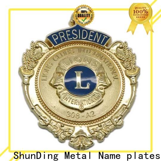 ShunDing private badge metal marketing for identification
