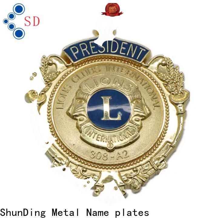 ShunDing stunning custom metal badges cost for commendation
