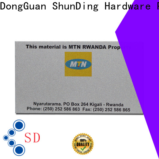 ShunDing metal engraved name plates manufacturer for souvenir