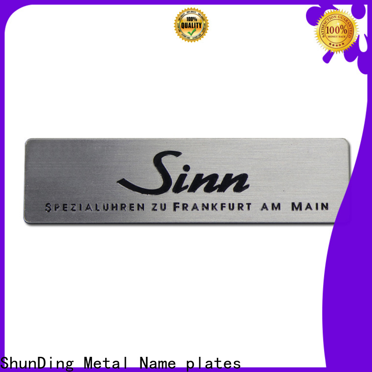 ShunDing high-quality ss name plate inquire now for auction