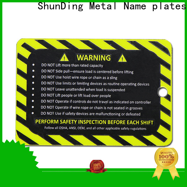 ShunDing steel name plates vendor for company