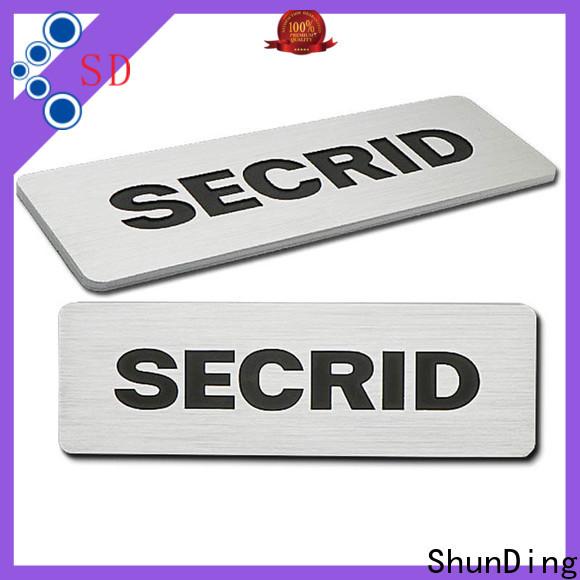 ShunDing advanced aluminum nameplate vendor for meeting