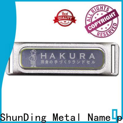 ShunDing metal labels certifications for activist