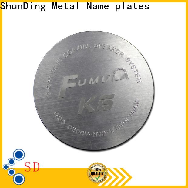 ShunDing steel name plates certifications for identification