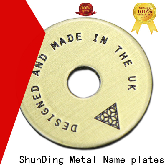 quality small brass plaques factory price for identification