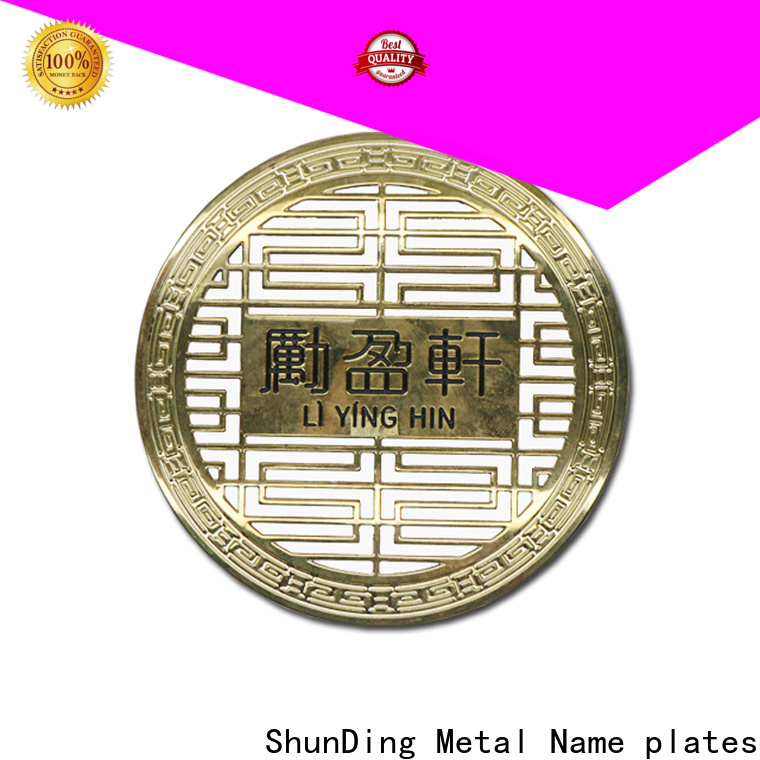 ShunDing engraved brass name plates factory price for staff
