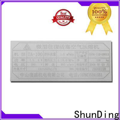 ShunDing 3d office door name plates from China for commendation