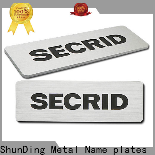 first-rate stainless steel name plates supply for company