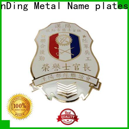 ShunDing fashion badge metal cost for company