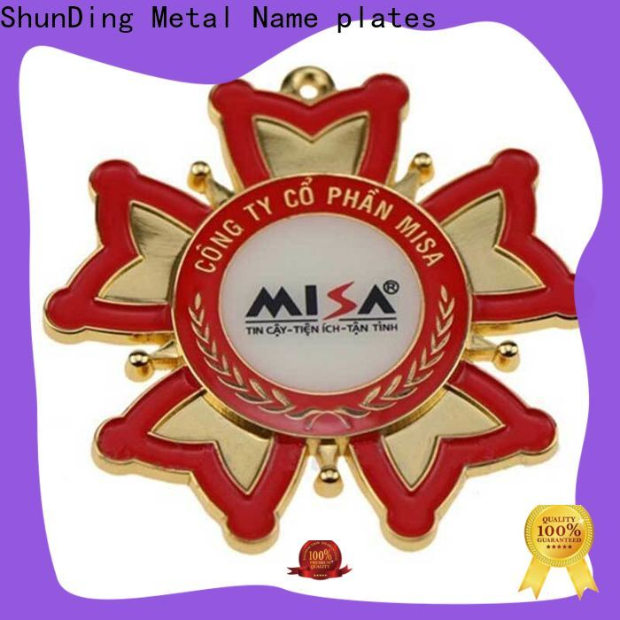 ShunDing colorful table name plate with good price for staff