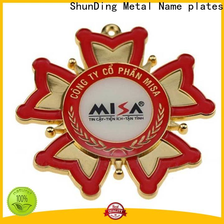 ShunDing electroforming aluminum sticker with Quiet Stable Motor for identification