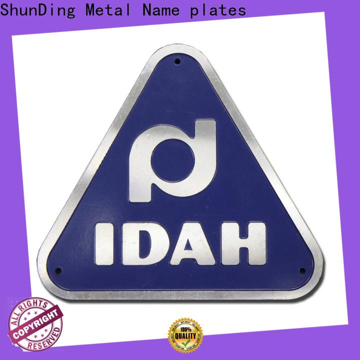 ShunDing nameplate supply for auction