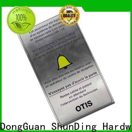 high-quality nameplate for home factory price for souvenir