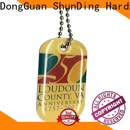 ShunDing quality metal tag cost for auction