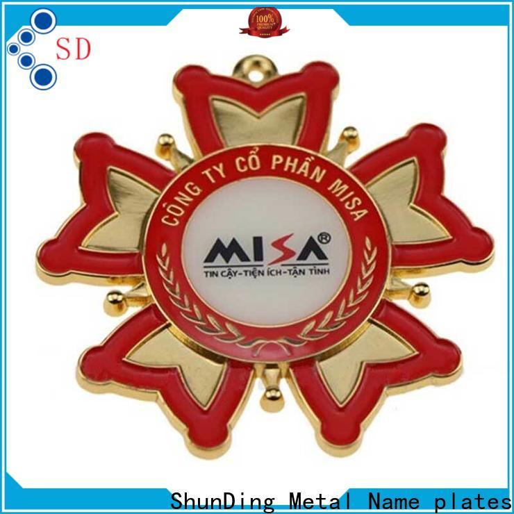 ShunDing logo badge metal for souvenir